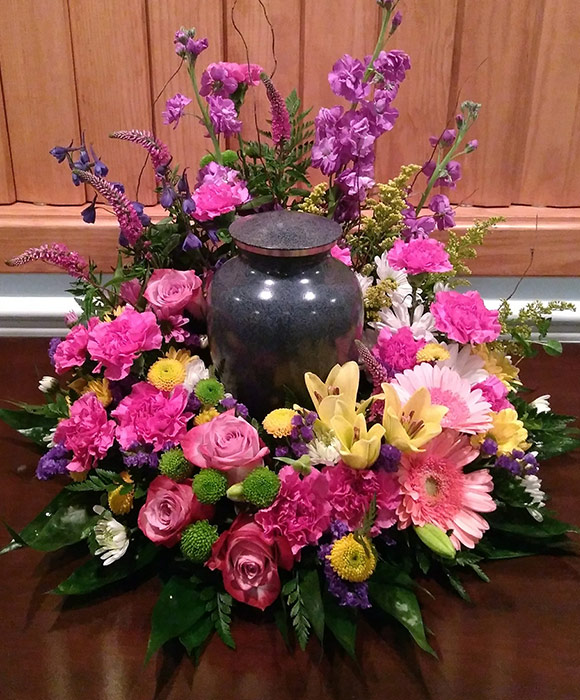 Sympathy and Funeral Arrangements - Memorial Urn Wreaths - From the Heart Florist