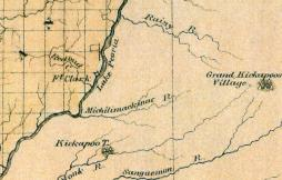 This 1822 atlas map of Illinois shows the same basic water course for the Mackinaw as found in earlier maps.