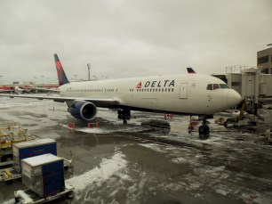 Our plane was flying in after the storm so it didnt get stuck at the gate.