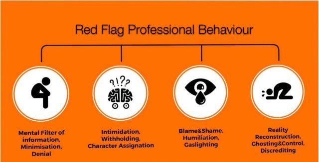 red flag professional behaviour