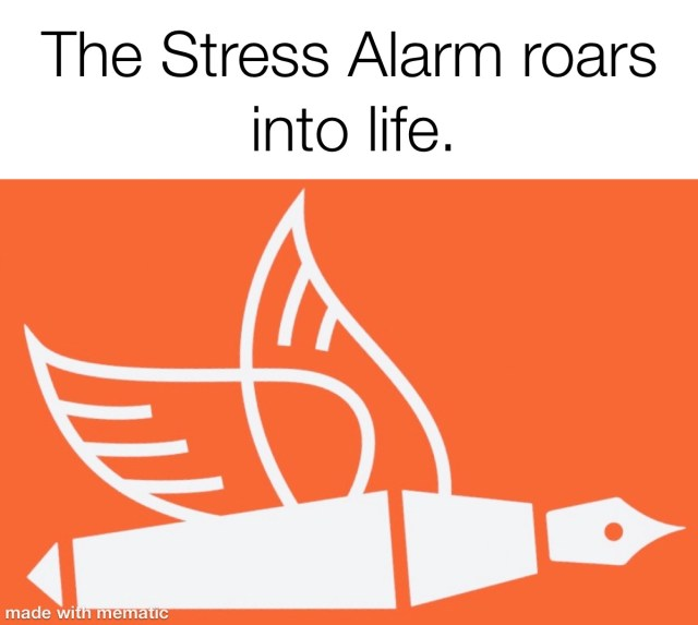 the stress alarm roars into life red flag behaviour changes from the pen of