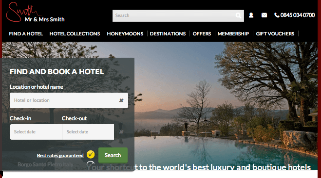 Mr and Mrs Smith website, best travel sites, best hotels sites, best boutique hotels site