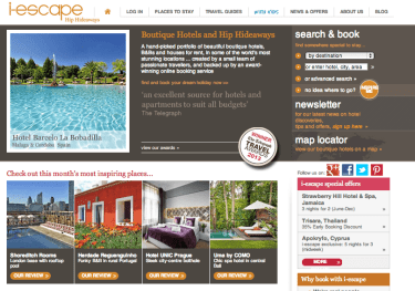 i-escape, boutique hotels, luxury hotels, best travel websites, best boutique hotels website, best luxury hotels websites