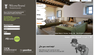 welcome beyond, boutique hotels, self-catering