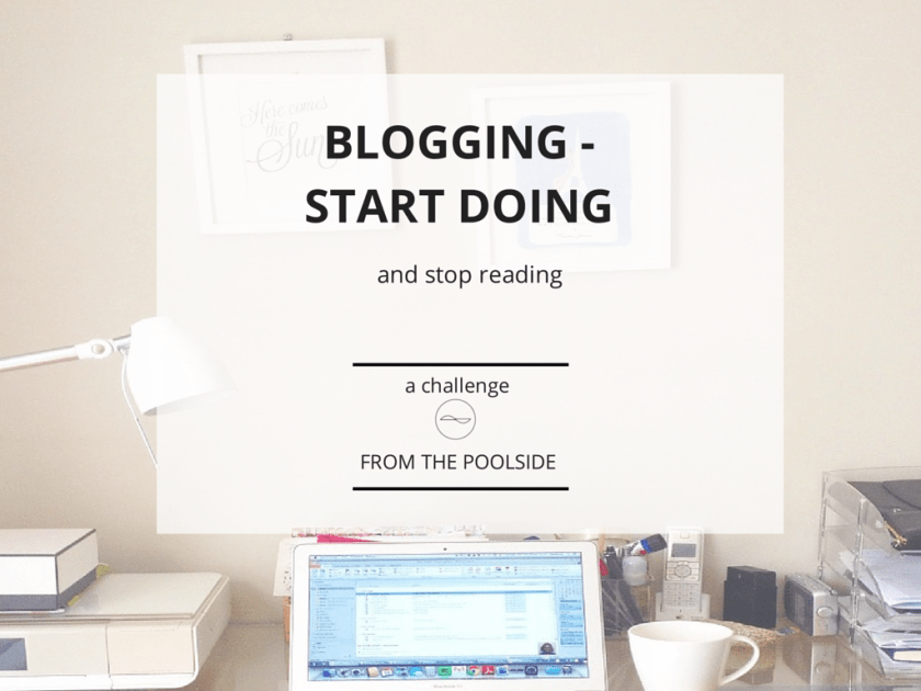 A 30 days challenge to stop reading about blogging to focus on Doing instead on your blog. Join me and create your own list of 30 things to do on your blog to feel a sense of achievement.