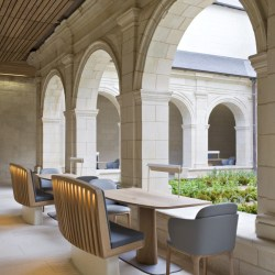 Imagine eating in front of the garden in the abbaye of Fontevraud.