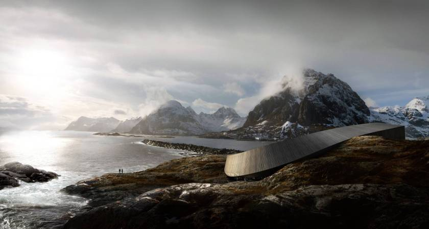 Lofoten Opera hotel, a new striking hotel in a remote Norwegian region. Opening late 2015