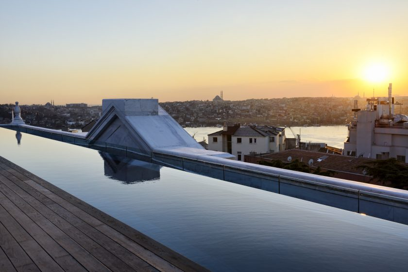 Soho House Istanbul, rooftop pool