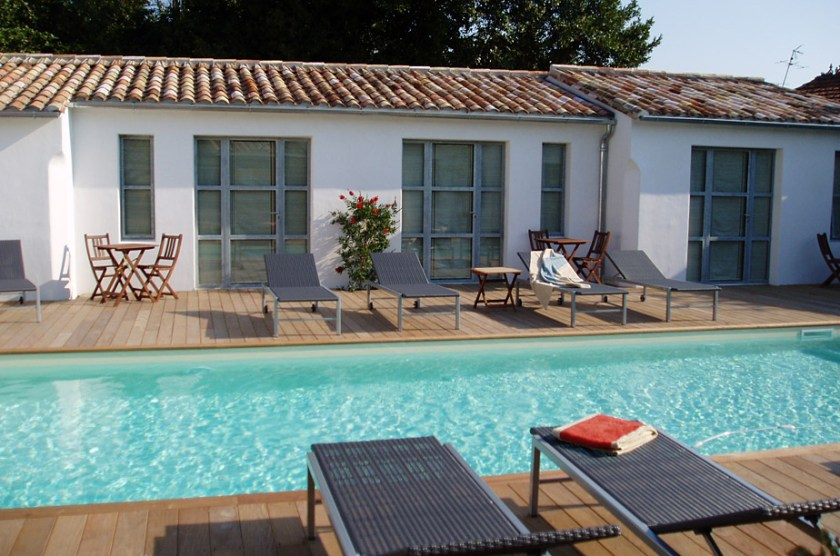 Hotel Ocean, Le Bois Plage, Ile de Ré. Charming hotel with good restaurant and pool. Prices from 100 Euros in high season