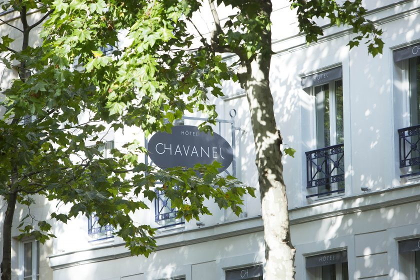 Hotel Chavanel, boutique hotel, Paris, France. Outside, typical French building