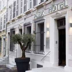 Alex Hotel, a new boutique hotel opened in Marseille, France. Front of the old building