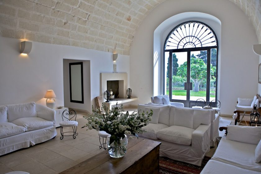 Masseria Montelauro, boutique hotel in Puglia, Italy. With pool and a small spa. Rooms start at 128 Euros in August. Click to find more beach boutique hotels in Italy, France, Spain, Greece and more