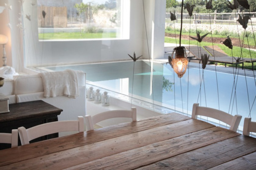 Masseria Prosperi, Puglia, Italy, one of 13 beach boutique hotels with a heated pool found on https://fromthepoolside.com. They also have animals so really nice for little ones.