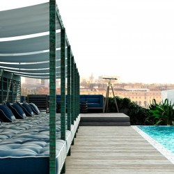 a dark seductive mood for the new coq hotel in paris. Black Bedroom Furniture Sets. Home Design Ideas