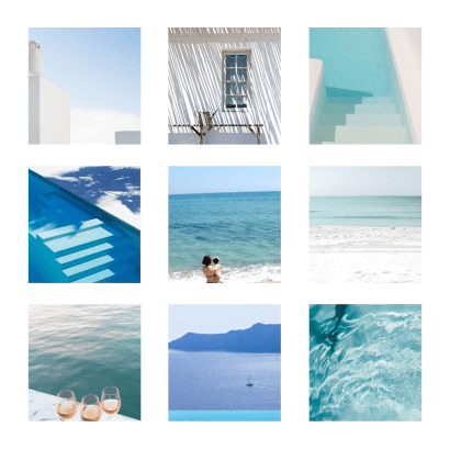Moodboard that inspired the redesign of From the Poolside, a blog on boutique hotels and chic villa rentals for family holidays. Go check out the new design and new tools to easily find your dream escape.