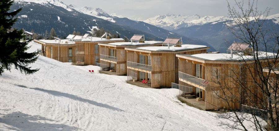 Hotel Aiguille Grive in the French alps. Ski chalets and bedrooms