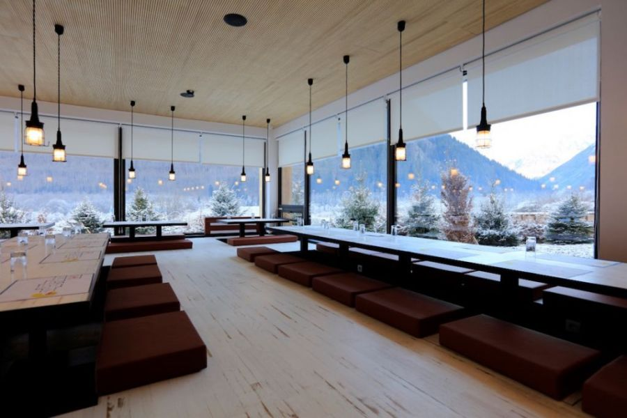 Rocky Pop new ski hotel in Chamonix, France.