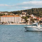 Finally a boutique hotel in Croatia!  There are some luxury hotels that are quite blingy but this one really fits my definition: 25 bedrooms only, nicely decorated lounges, a pool and on top of that, it's closed to the beach!