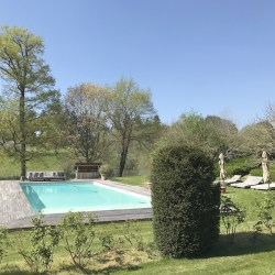 Domaine des Etangs, a beautiful hotel in Charente, France.  Just wonderful.  Read the series of posts to learn more.  Read the review