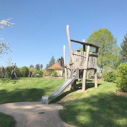 Domaine des Etangs, a beautiful hotel in Charente, France.  Just wonderful.  Read the series of posts to learn more.  Read the review. Playground for children