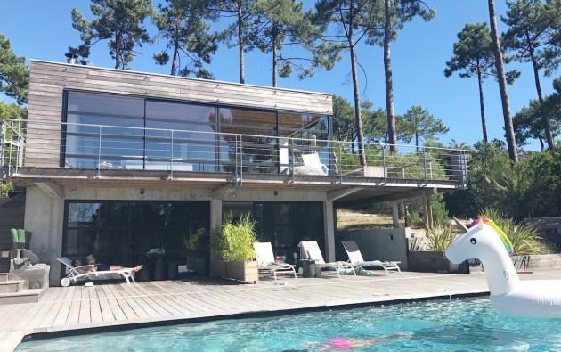 Villa Mogador Cap Ferret a fantastic B&B or villa rental with pool. France family holidays