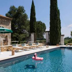 La Maison Rousse villa rental with pool in Provence with a big garden.  Holiday home in Provence for great family vacation.