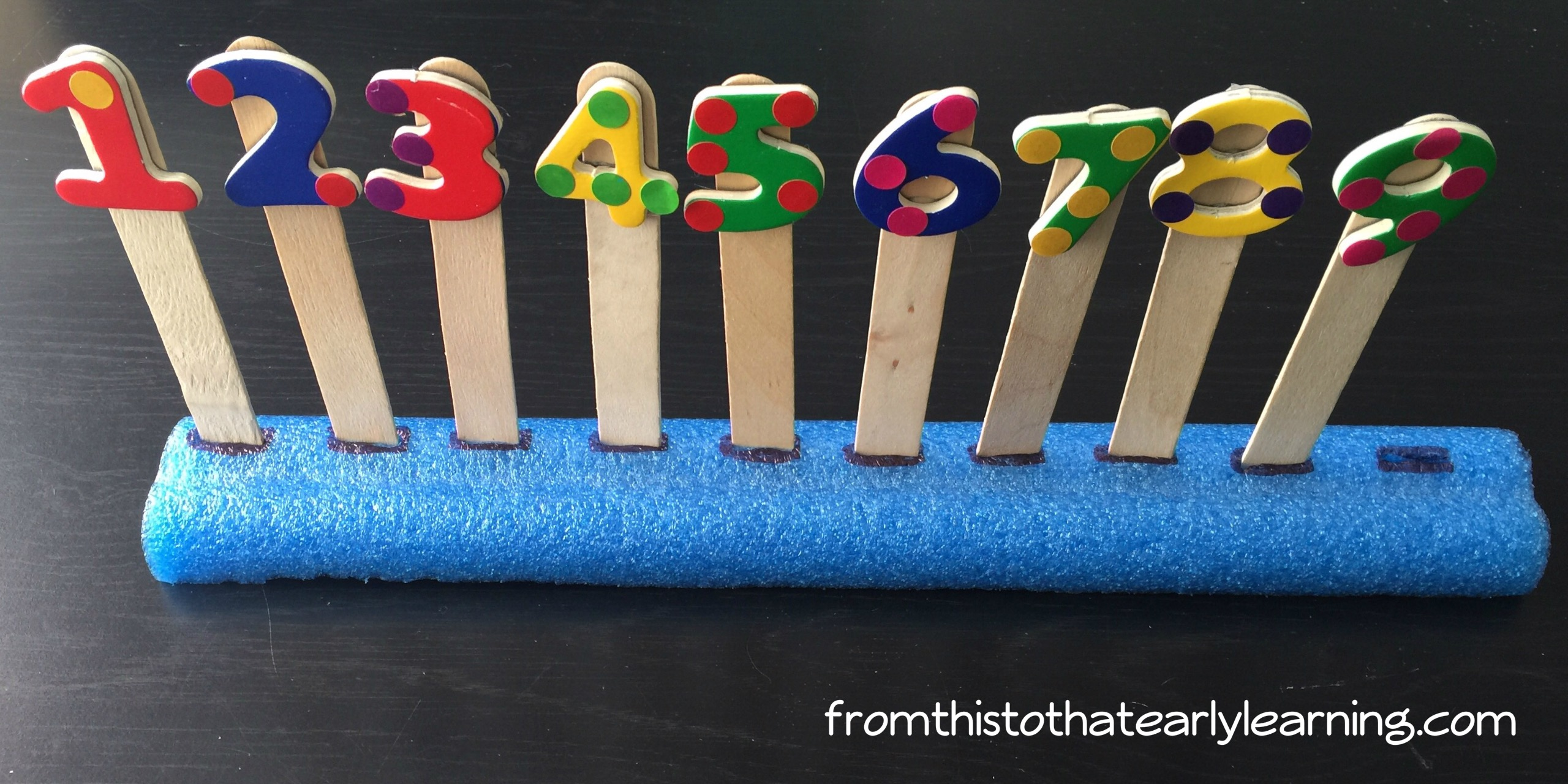 6 Ways To Use Pool Noodles As A Number Line From This To That Early Learning