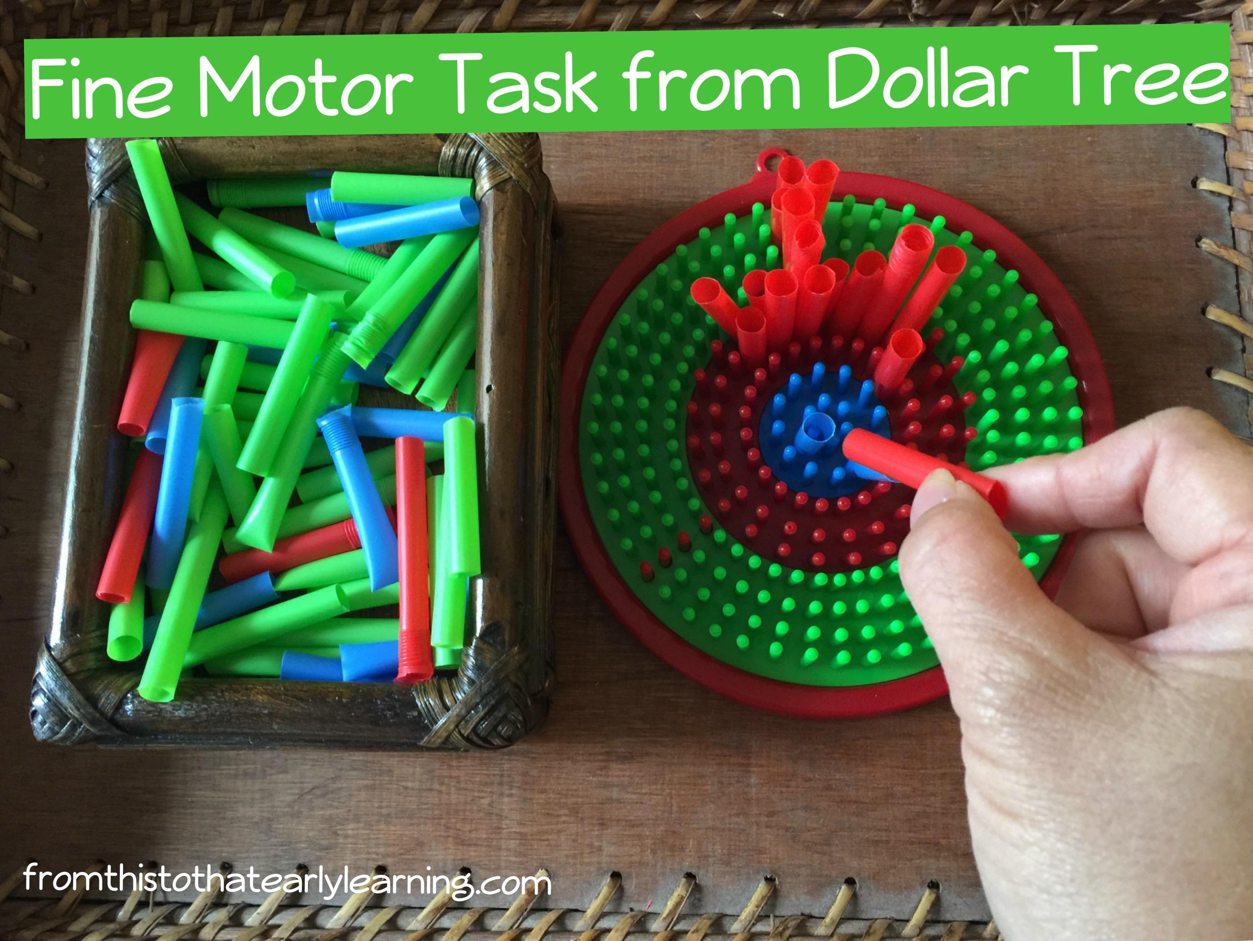 Montessori Inspired Fine Motor Tasks From Dollar Tree