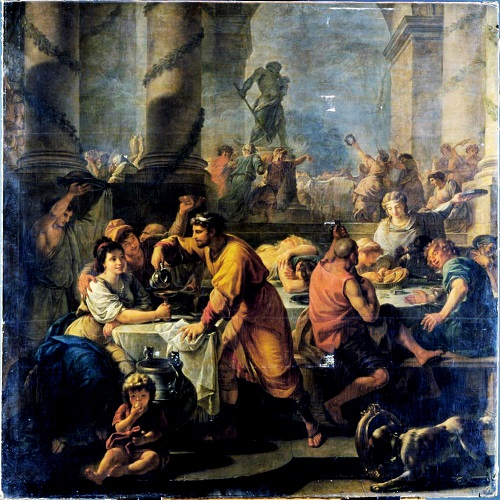 Saturnalia by Antoine Callet - How the Christmas Tree was born