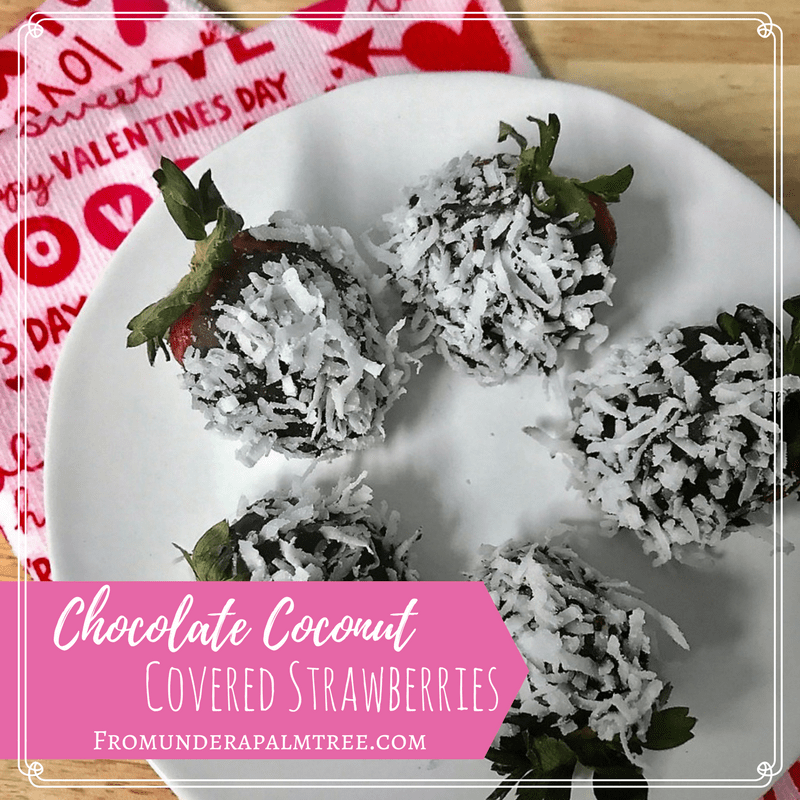 Chocolate Coconut covered strawberries | Chocolate covered strawberries | coconut dessert | valentine's day dessert | sweet treat |