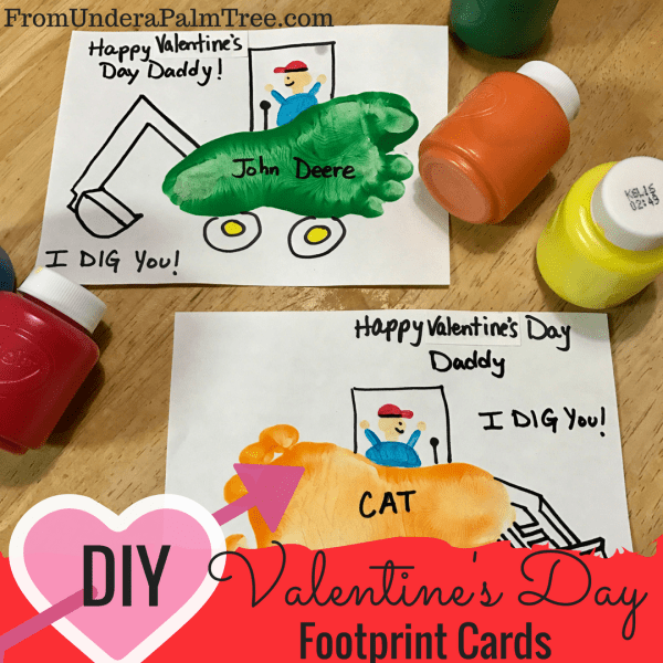DIY Valentine's Day Footprint Cards