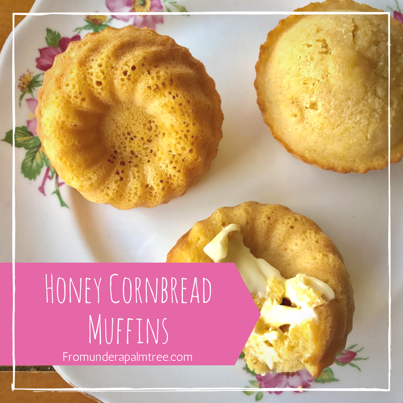 Honey Cornbread Muffins by From Under a Palm Tree
