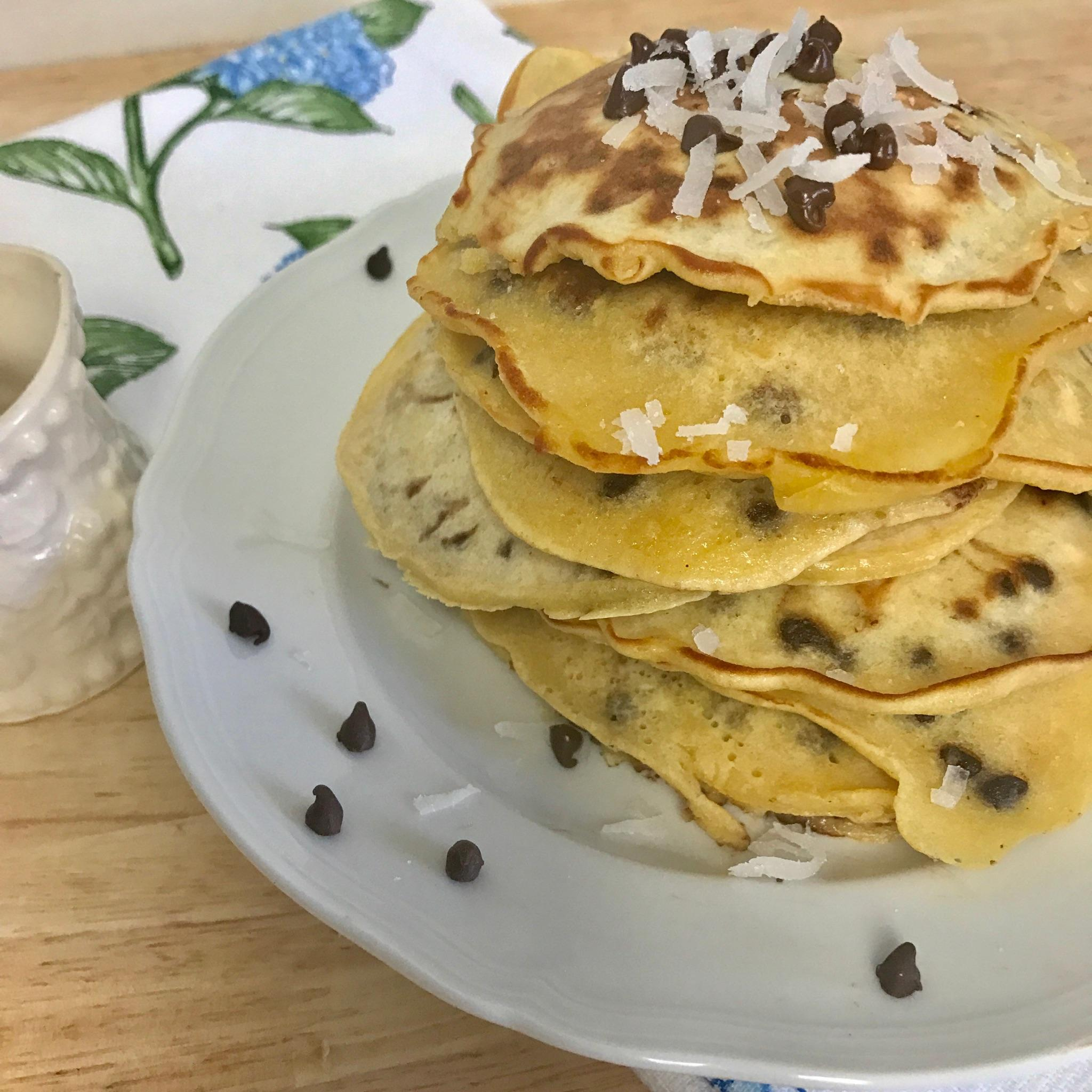 Chocolate Chip and Coconut Pancakes