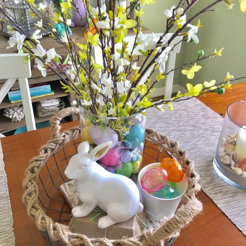 DIY Easter Centerpiece by From Under a Palm Tree