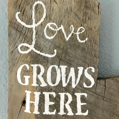 DIY Wooden Growth Chart by From Under a Palm Tree