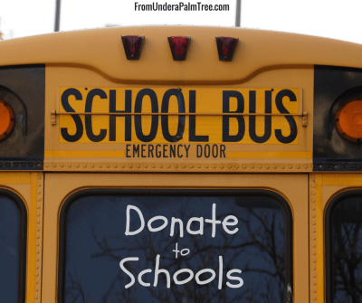 5 Easy Ways to Donate to Schools, Kids, & Teachers by From Under a Palm Tree