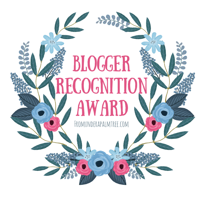Blogger Recognition Award July 2017
