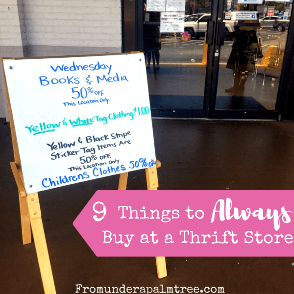 9 Things to Buy at a Thrift Store by From Under a Palm Tree