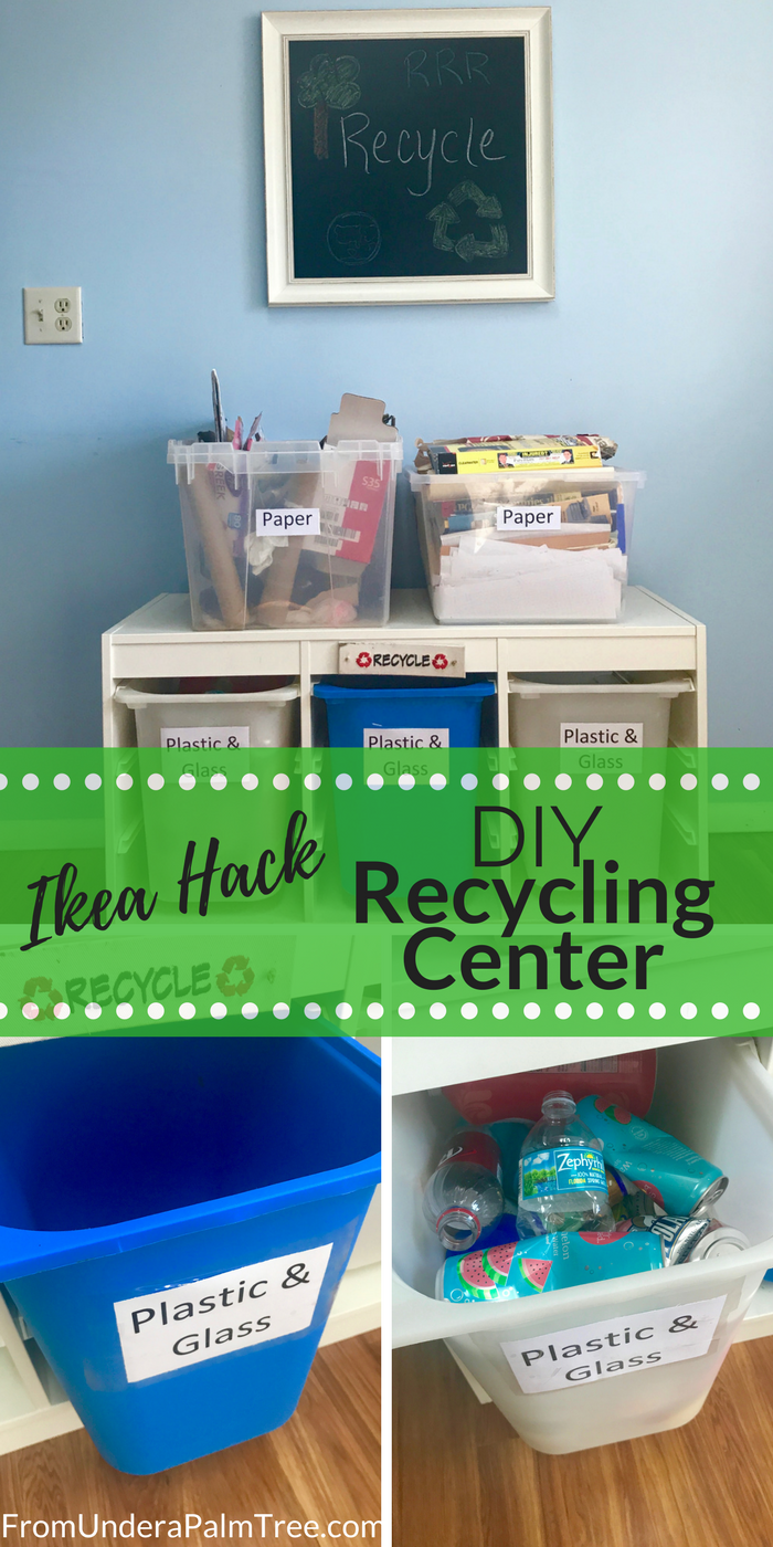DIY | Recycle | Recycling Center | DIY Recycling Center | Easy ways to organize recycling | recycling organization | Ikea Hack | how to keep recycled items organized | separating recyclable items | reduce reuse recycle | how to save our earth | ways to protect our earth | sustainable living | sustainability |