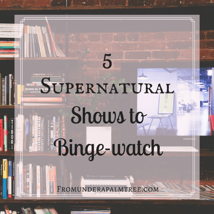 Are you looking for a new show to binge? Look no further than these 5 supernatural shows! Click here for the list. | 5 Supernatural Shows to Binge-watch | Binge-watch | Game of Thrones | Supernatural | Midnight, Texas | Once Upon a Time | Fantasy Shows | Fantasy TV | Supernatural TV | Good Tv Shows to Binge | Binge TV |