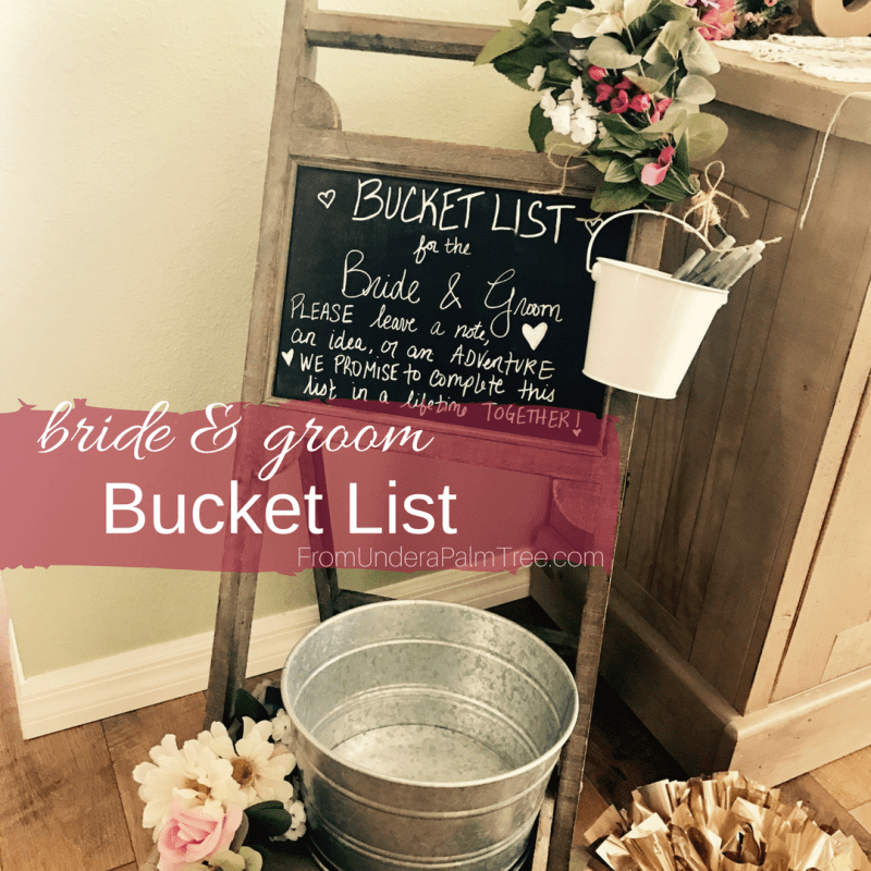 bridal shower bucket list