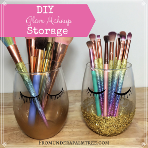 DIY Glam Makeup Storage