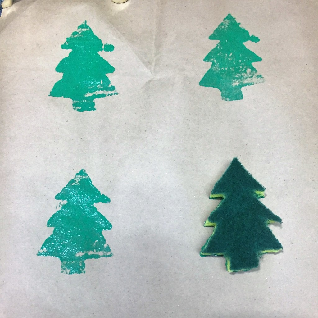 DIY Christmas Tree Wrapping Paper by From Under a Palm Tree