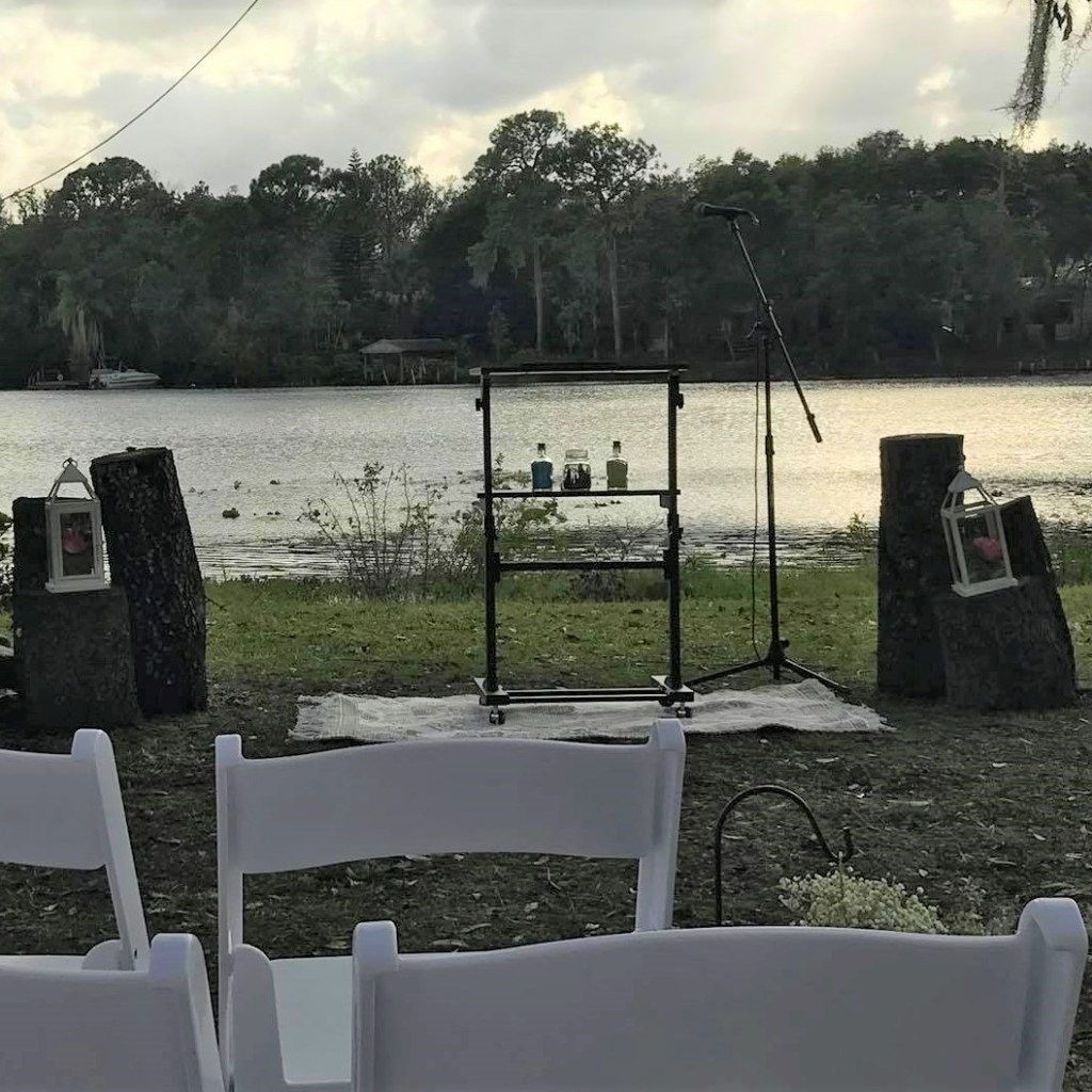 Harry Potter Wedding Sandy Ceremony by From Under a Palm Tree