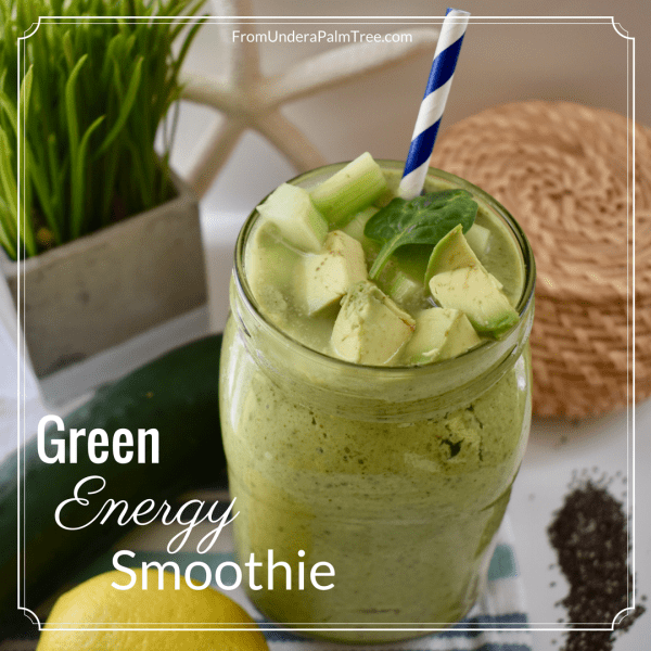 Green Energy Smoothie | Green Smoothie | Smoothie Recipe | Healthy Smoothie | Breakfast Smoothie Recipe | Meal Replacement Smoothie | Protein Smoothie Recipe | Protein Smoothie | Protein Drink | Veggie Smoothie | Vegetable Smoothie | What to put in a veggie smoothie |