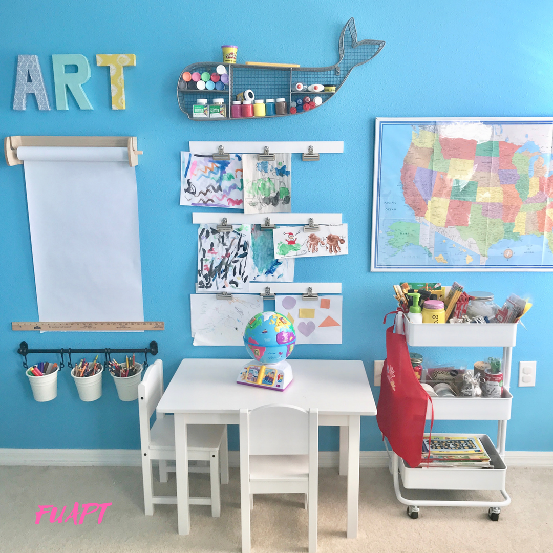 Tips for Making a Creative Kids Art Station by From Under a Palm Tree