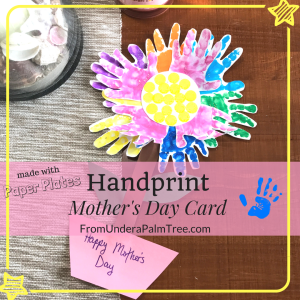 Paper Plate Handprint Mother's Day Card