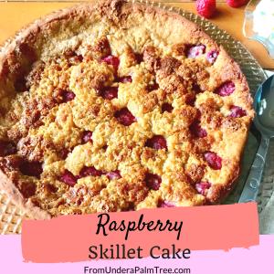 Raspberry Skillet Cake