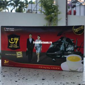G7 Trung Nguyen coffee 3в1 кофе растворимый 21 пакетик по 16г