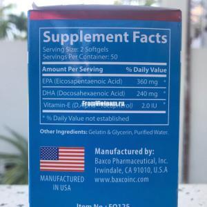 Omega 3 ( Омега 3 ) USA 100 капсул